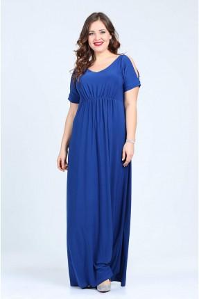 فستان مفتوح الاكمام - ازرق