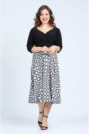 فستان قصير منقوش مربعات