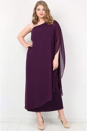 فستان بدون كتف - بنفسجي