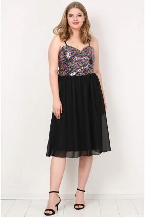فستان بروتيل مشكوك بالترتر