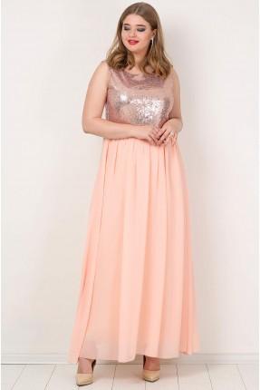 فستان طويل مع شك من الاعلى
