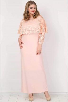فستان مفوح الاكتاف دانتيل