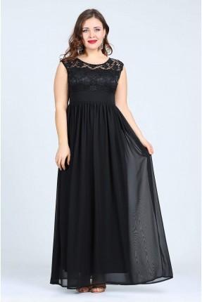 فستان دانتيل - اسود