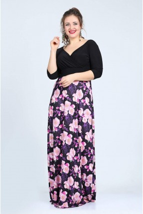 فستان منقوش زهرة
