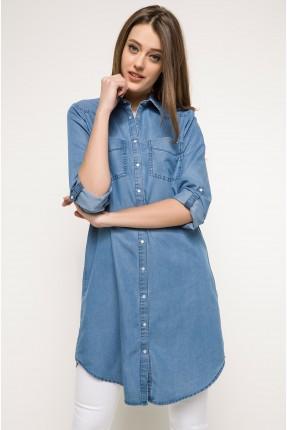 قميص نسائي سبور- ازرق