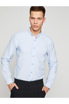قميص رجالي ياقة كلاسيكية _ ازرق