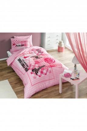 طقم غطاء سرير اطفال بناتي - وردي
