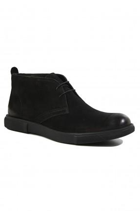 حذاء رجالي جلد ناشف - اسود