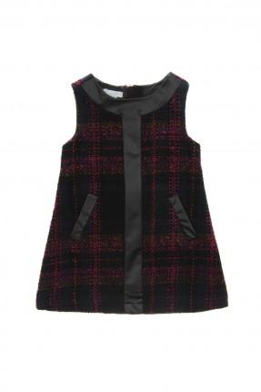 فستان اطفال بناتي كارو - اسود