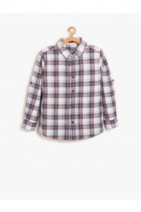 قميص اطفال ولادي كاروهات ياقة كلاسيكية