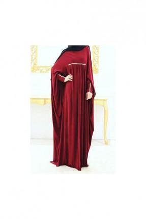 فستان طويل فضفاض - خمري