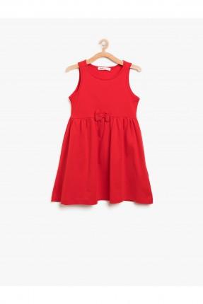 فستان اطفال ناعم مع فيونكة _ احمر