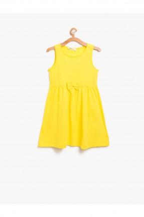 فستان اطفال ناعم مع فيونكة _ اصفر