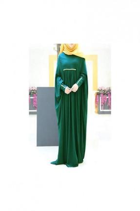 فستان طويل فضفاض - اخضر