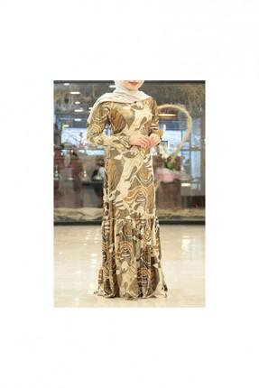 فستان طويل مخلط