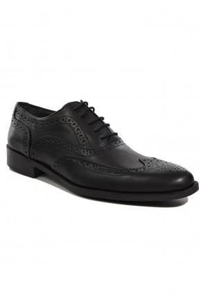 حذاء رجالي جلد رسمي - اسود