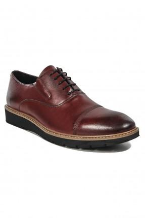 حذاء رجالي برباط رسمي - خمري