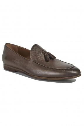 حذاء رجالي جلد رسمي - بني