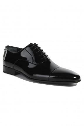 حذاء رجالي جلد لامع رسمي - اسود