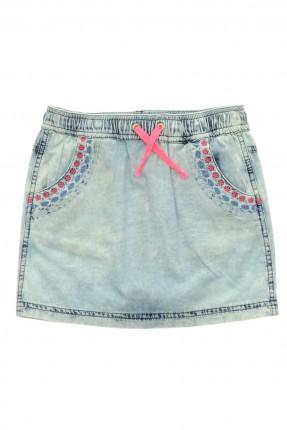 تنورة اطفال بناتي بسيطة جينز
