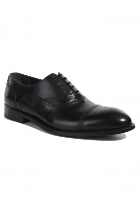 حذاء رجالي مفرغ من الاطراف رسمي - اسود