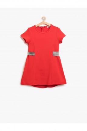 فستان اطفال كم قصير _ احمر