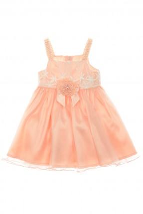 فستان اطفال بناتي بوردة في المنتصف