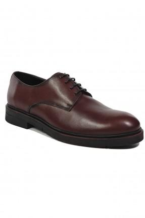 حذاء رجالي جلد رسمي - خمري