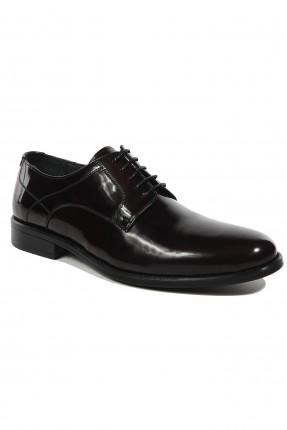 حذاء رجالي جلد لامع - خمري