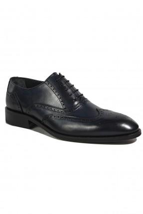 حذاء رجالي جلد رسمي - ازرق داكن