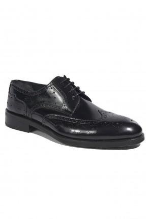 حذاء رجالي جلد لامع - اسود