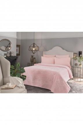 بطانية سرير مزدوج - لون وردي 220 * 240 سم