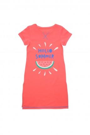 قميص نوم اطفال بناتي - احمر