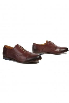 حذاء رجالي جلد شيك - خمري