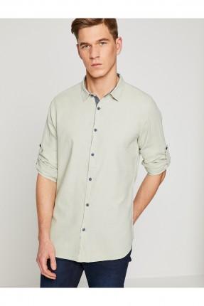 قميص رجالي ياقة كلاسيكية