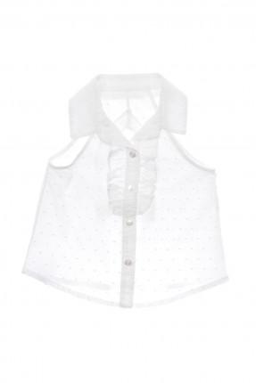 قميص اطفال بناتي بلا اكمام بكشكشكة بسيطة