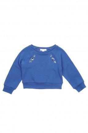 بلوز اطفال بناتي بسيط - ازرق