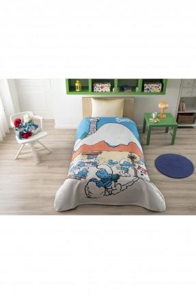 بطانية سرير اطفال - سنافر / 160 * 220 سم