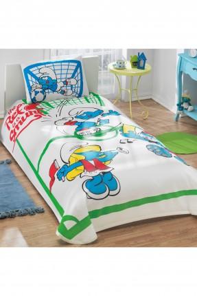 طقم بطانية سرير اطفال  - سنافر