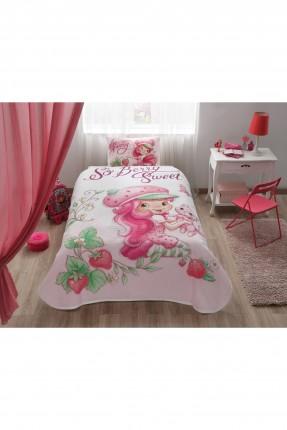 طقم بطانية سرير اطفال بناتي - ستروبري
