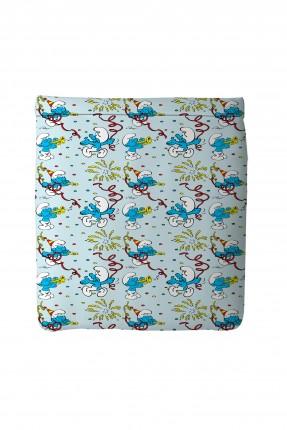 غطاء سرير اطفال ولادي - سنافر