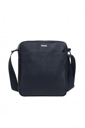 حقيبة يد رجالي صغير مع مقبض بجيب مضغوط - ازرق داكن