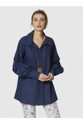 قميص نسائي - ازرق داكن