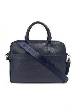 حقيبة يد رجالي بجيب مضغوطة من الخلف - ازرق داكن
