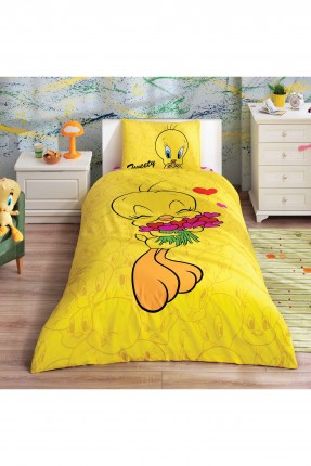 طقم غطاء سرير اطفال - تويتي