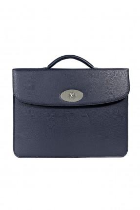 حقيبة يد رجالي جلد كلاسيكي - ازرق داكن