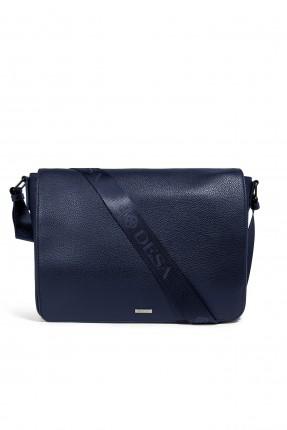 حقيبة يد رجالي جلد للاعمال رسمي - ازرق داكن