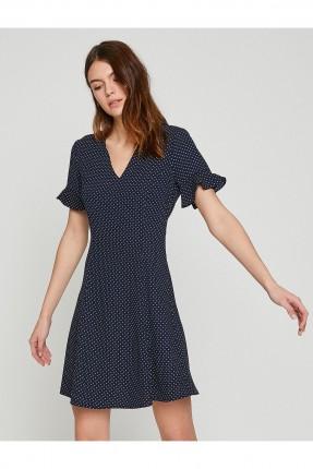 فستان نسائي سبور منقط - كحلي