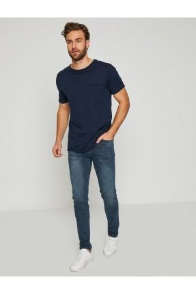 بنطال رجالي جينز بكحتة - كحلي