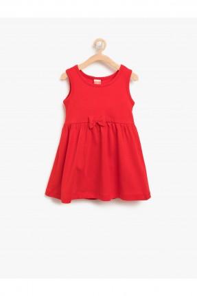 فستان اطفال بناتي بلا اكمام - احمر